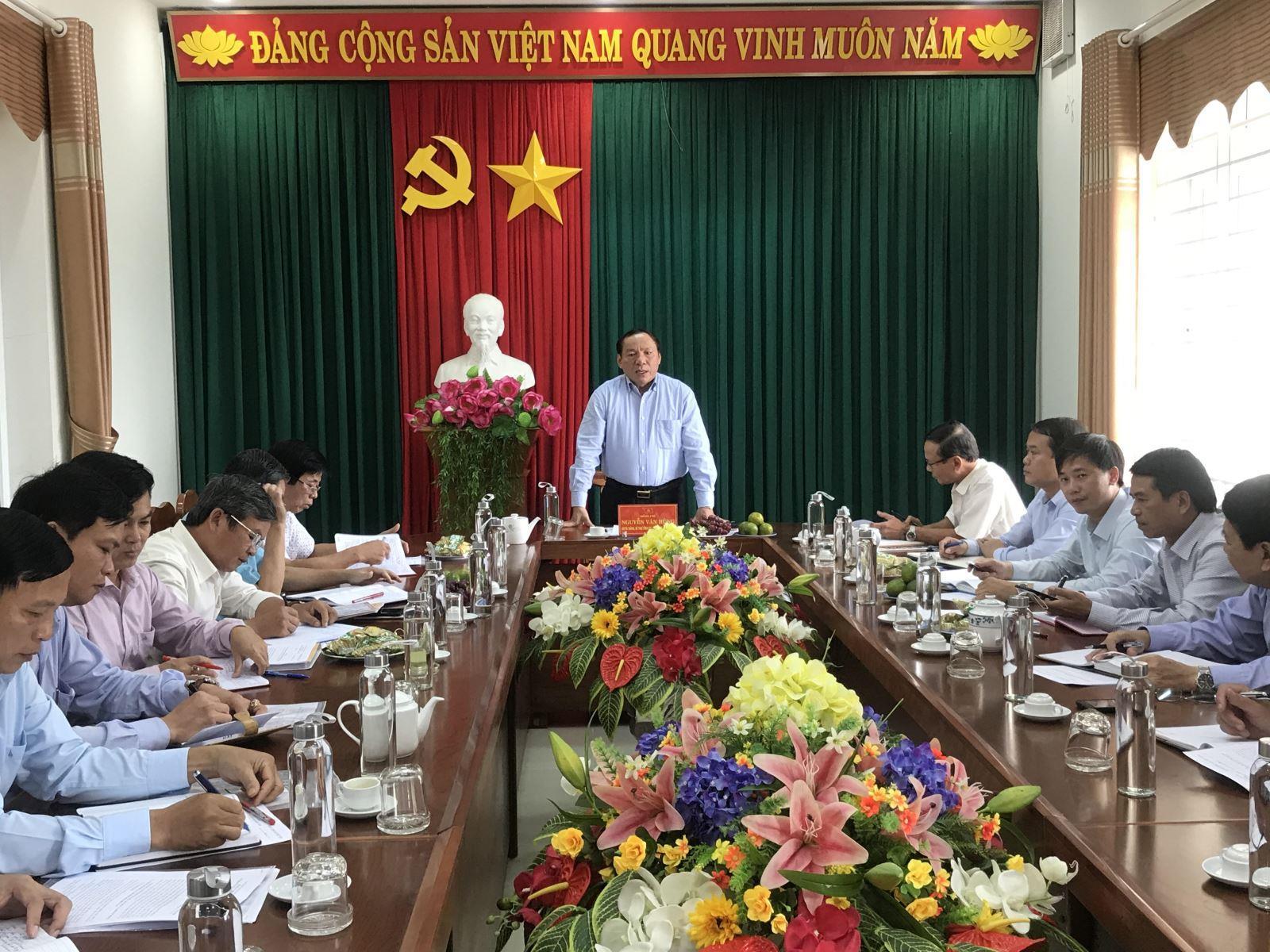 Thường trực Tỉnh uỷ làm việc với Đảng uỷ Khối Cơ quan và Doanh nghiệp tỉnh
