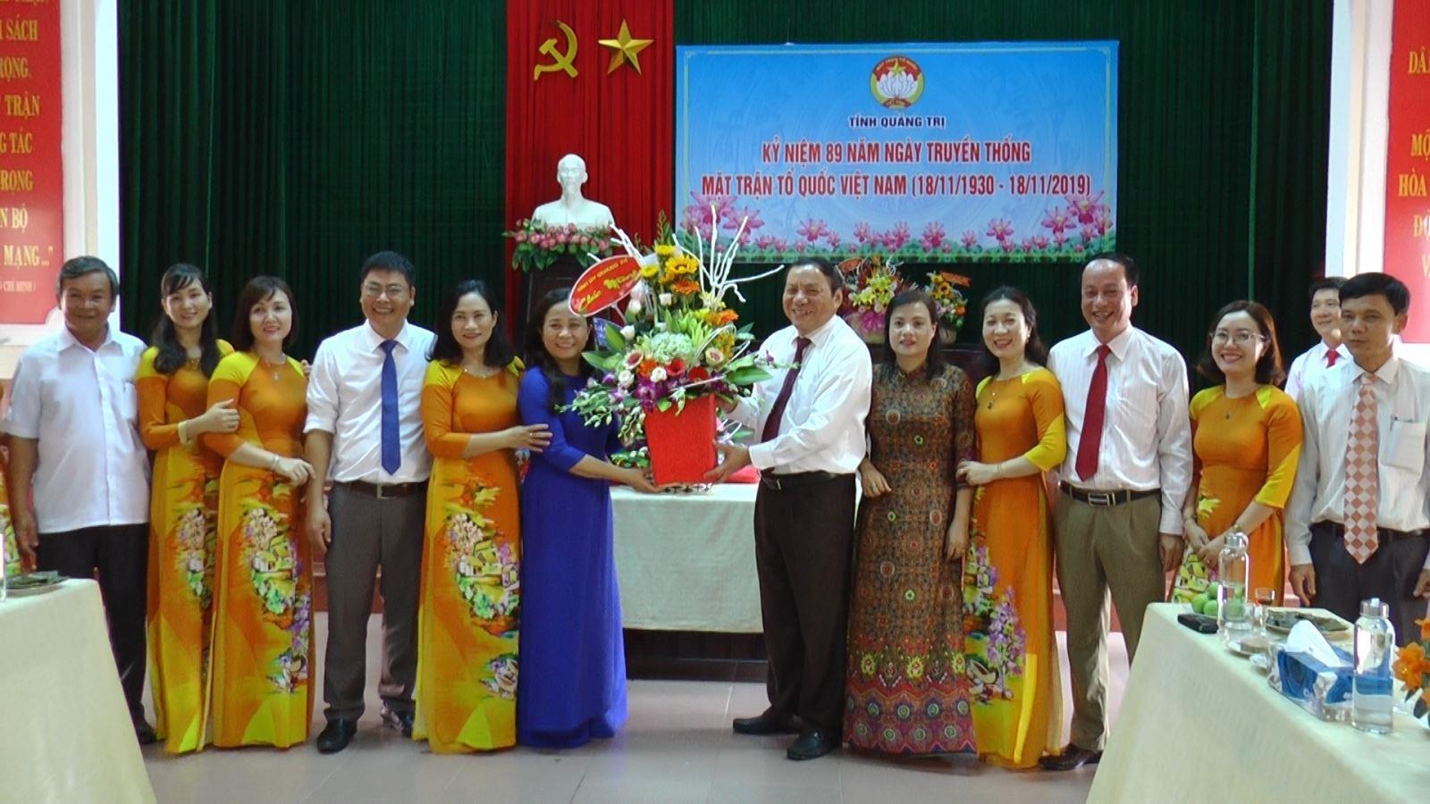 Lãnh đạo tỉnh thăm, chúc mừng nhân Ngày thành lập Mặt trận Tổ quốc Việt Nam ( 18/11)