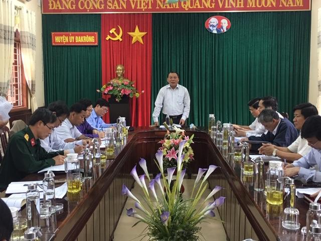 Đoàn giám sát của Ban Thường vụ Tỉnh ủy làm việc với Ban Thường vụ Huyện ủy Đakrông