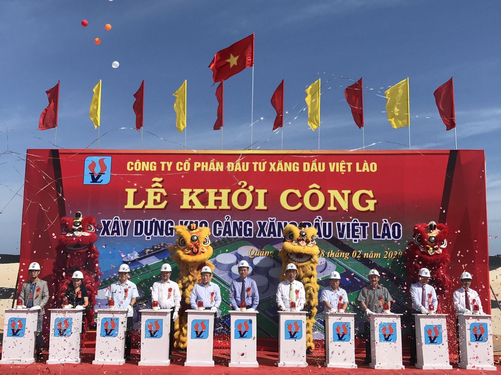 Khởi công xây dựng Kho cảng xăng dầu Việt Lào