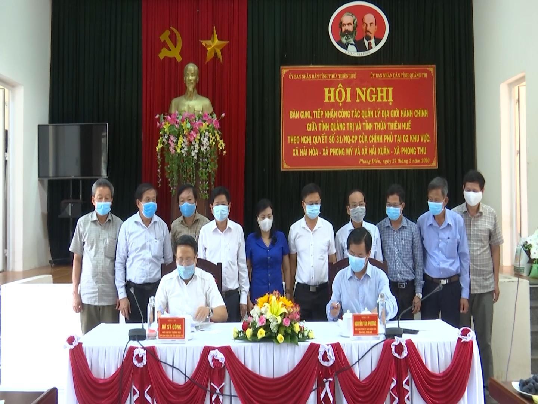 Bàn giao địa giới hành chính giữa Quảng Trị và Thừa Thiên Huế