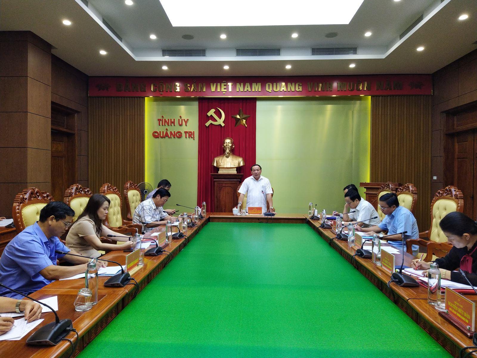 Ban Thường vụ Tỉnh ủy rà soát công tác chuẩn bị Đại hội Đảng bộ Công ty TNHH MTV Cao su Quảng Trị lần thứ VIII