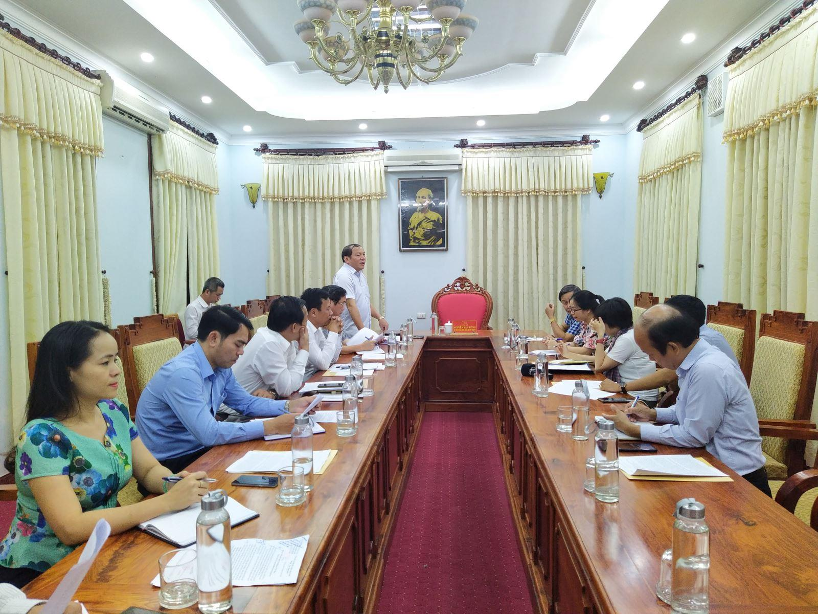 Thường trực Tỉnh ủy làm việc với Cơ quan thường trú miền Trung - Đài Tiếng nói Việt Nam