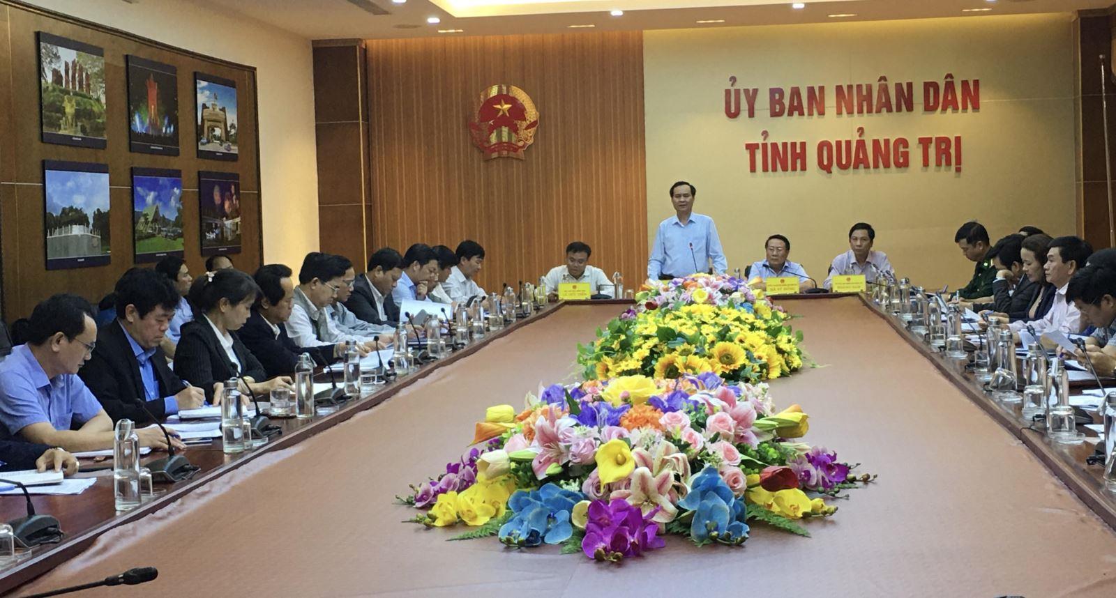 UBND tỉnh họp bàn giải pháp khắc phục hậu quả mưa lũ