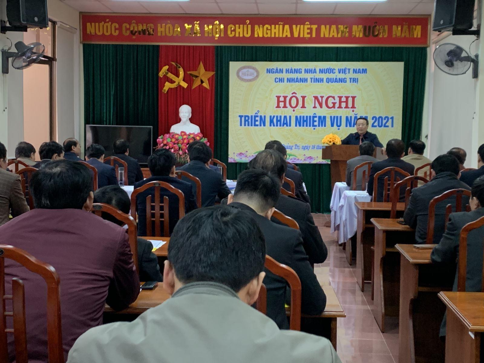 Ngân hàng Nhà nước Việt Nam Chi nhánh Quảng Trị triển khai nhiệm vụ năm 2021