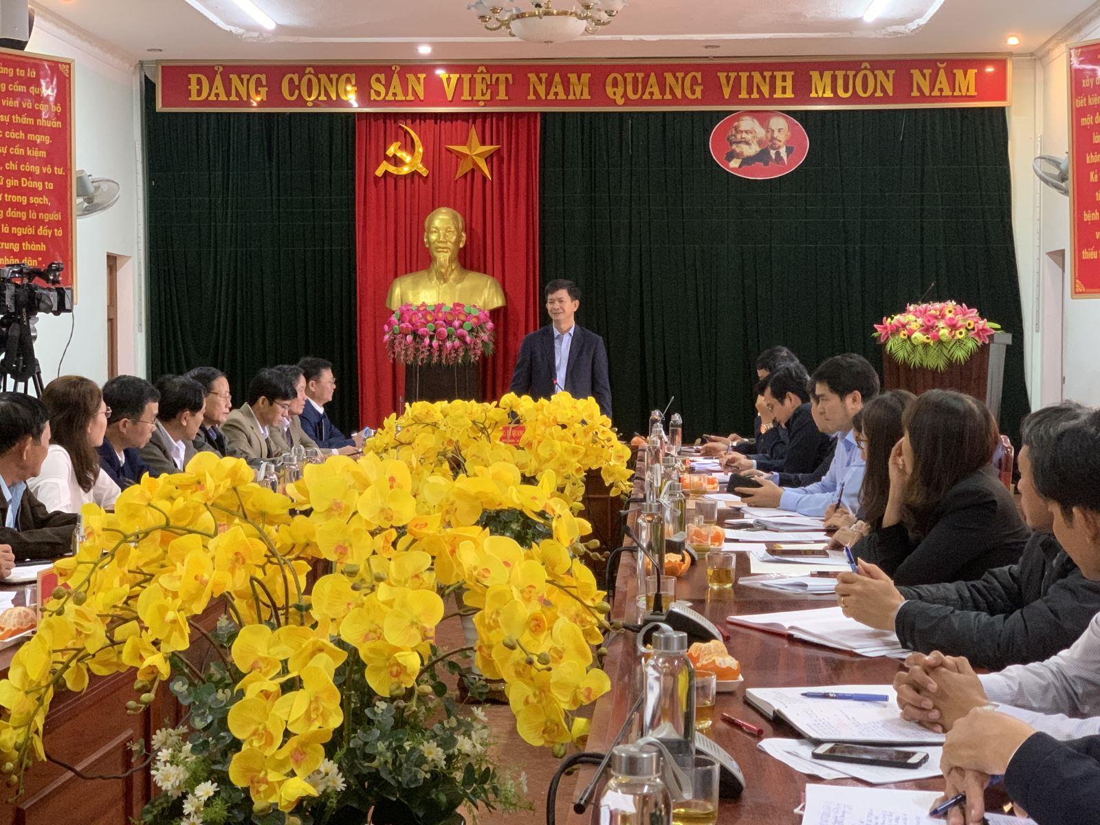 Ban Thường vụ Tỉnh uỷ làm việc tại huyện Gio Linh