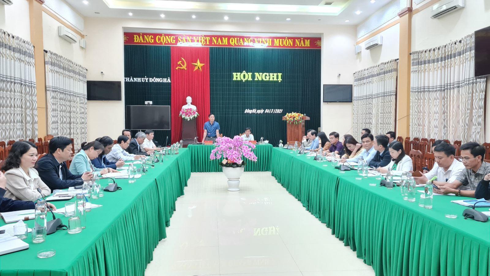 Phó Bí thư Thường trực Tỉnh ủy Nguyễn Đăng Quang làm việc với Ban Thường vụ Thành ủy Đông Hà
