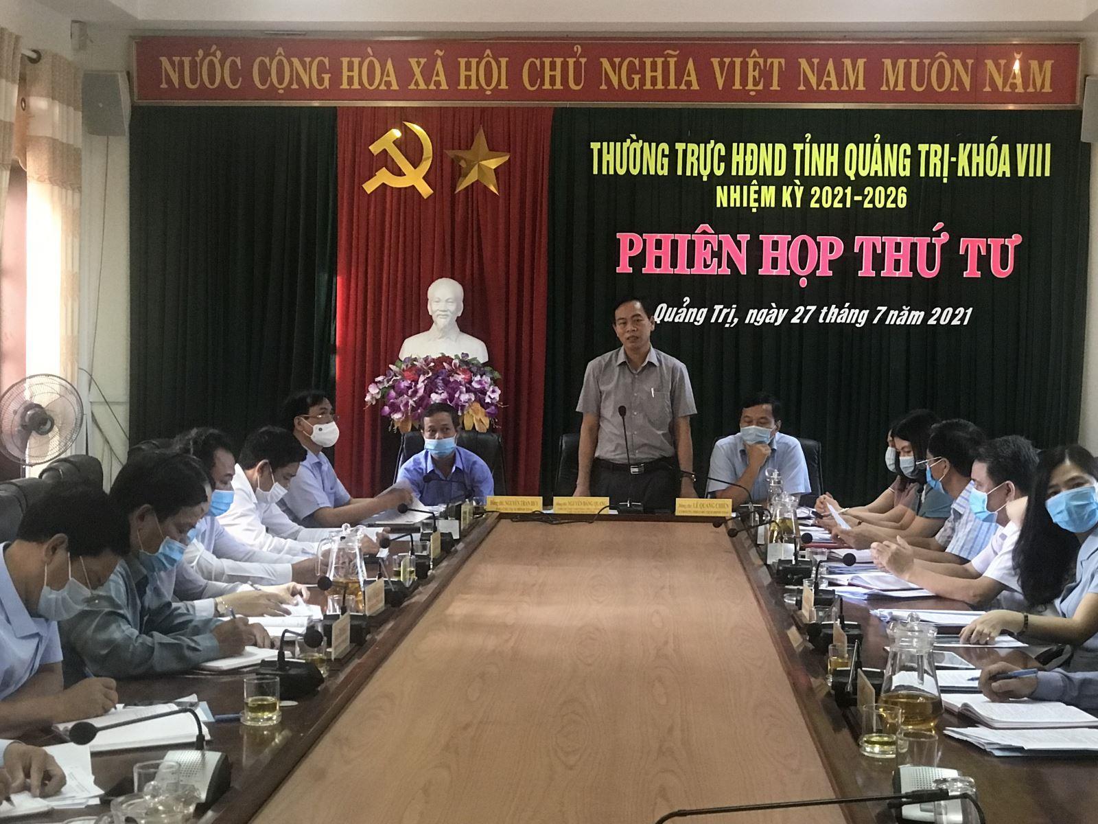 Thường trực HĐND tỉnh khoá VIII tổ chức phiên họp thứ 4